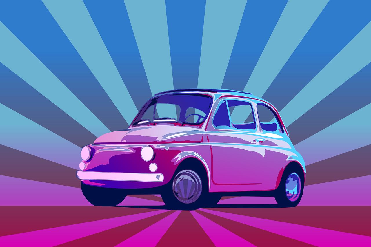 Car Fiat Italian Vehicle Blue Car  - OpenClipart-Vectors / Pixabay
