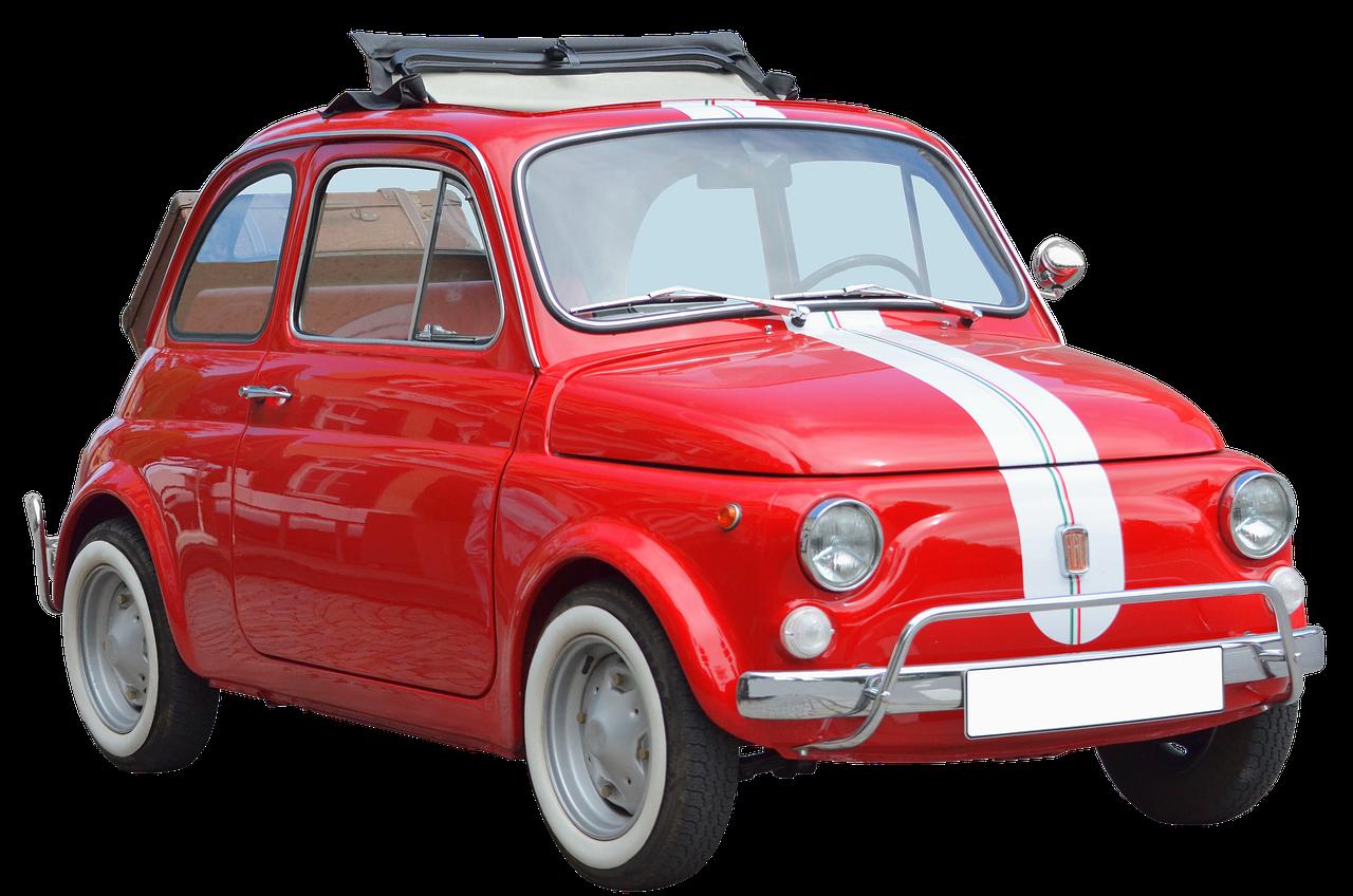 Isolated Fiat  Oldtimer  - Emslichter / Pixabay